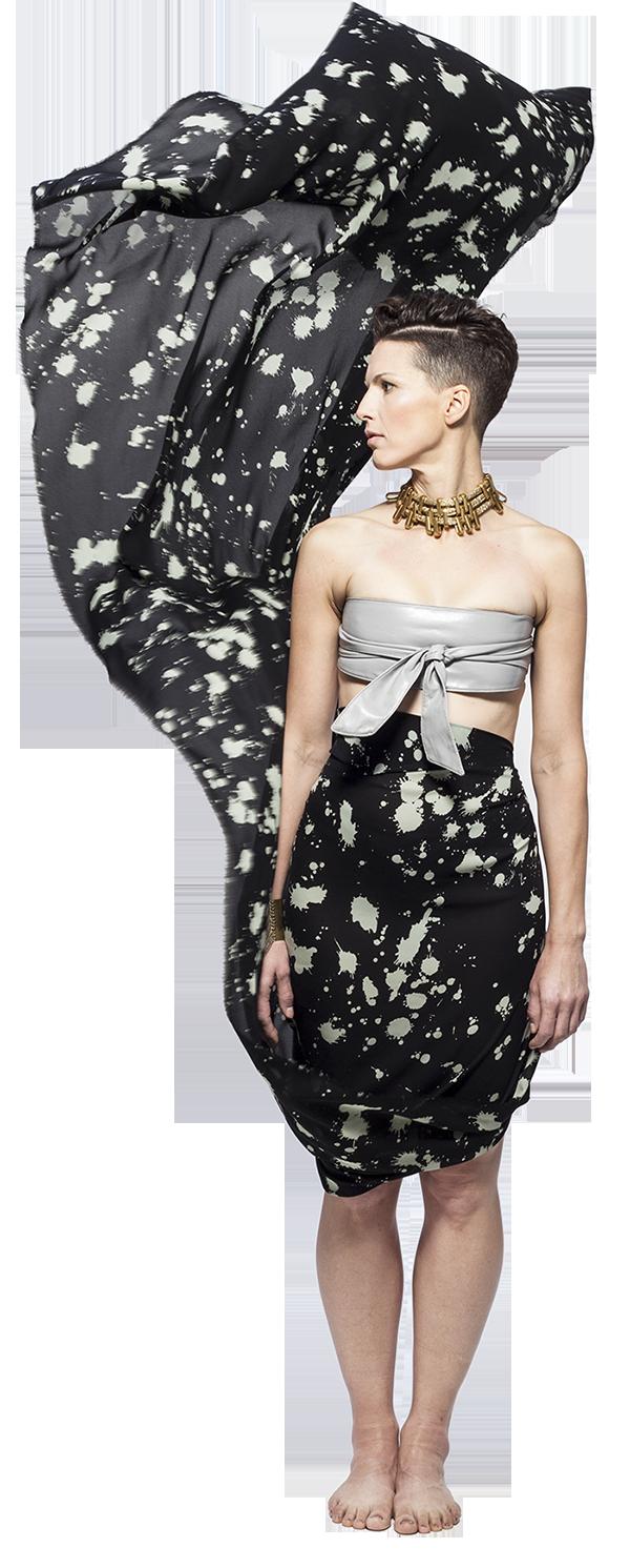 Becoming Artist International Exhibition_She Spoke_Jessica Serran_Painted Fabric