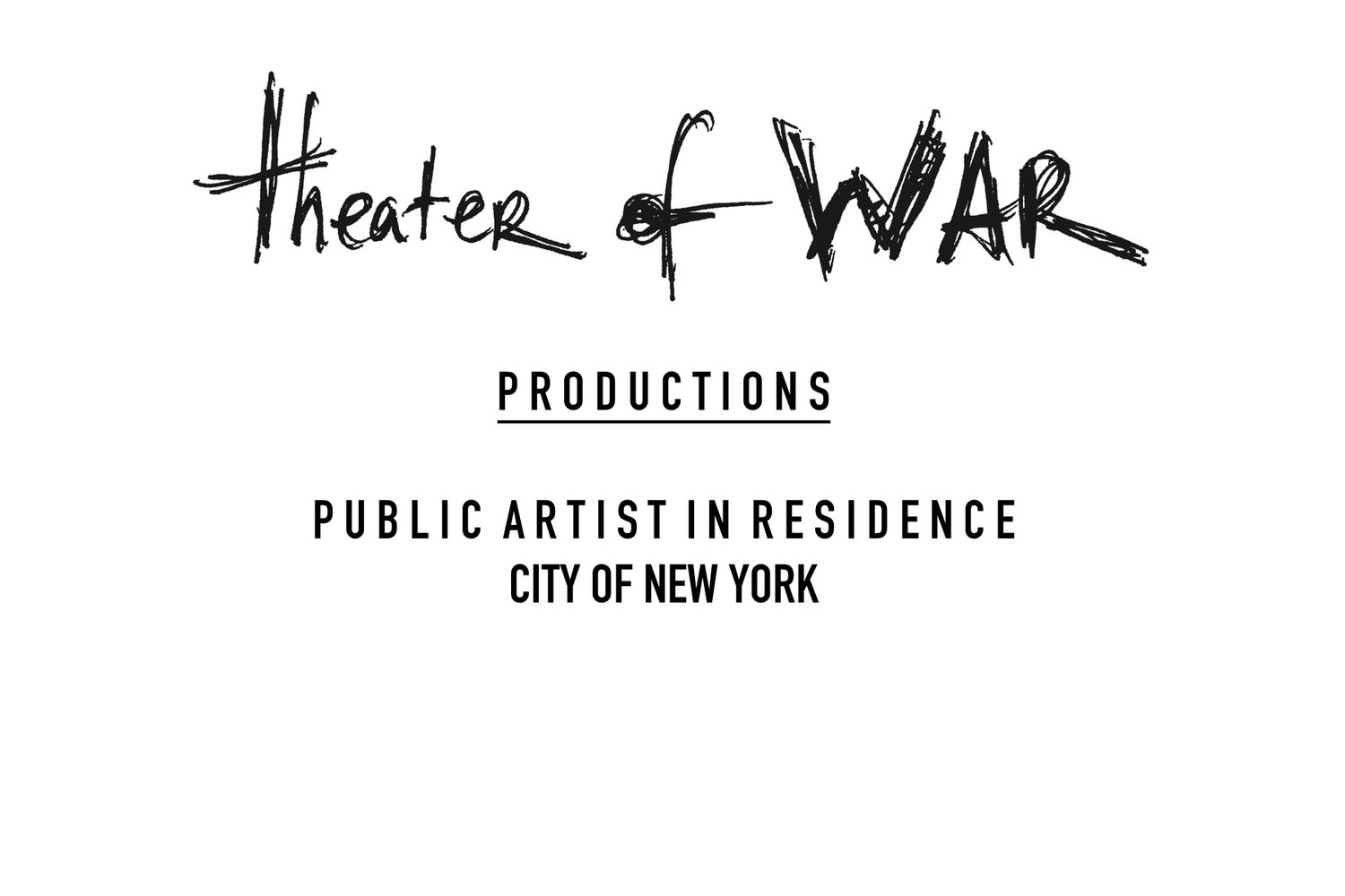 Theater of War: Public Artist in Residence, City of New York