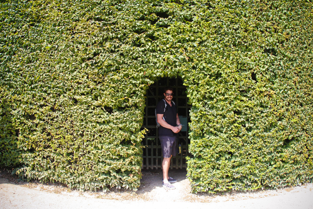 Hiding!