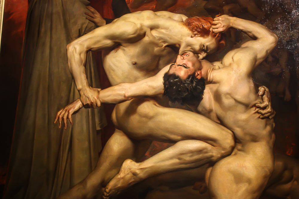 William-Adolphe Bouguereau's  Dante and Virgil , 1850
