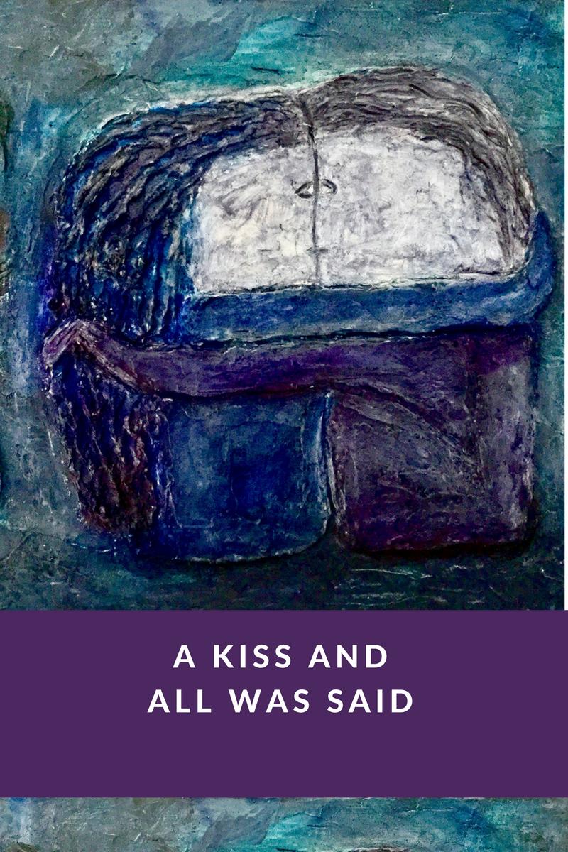 """"""" The Kiss"""" (acrylic on canvas)Inès Peyret"""