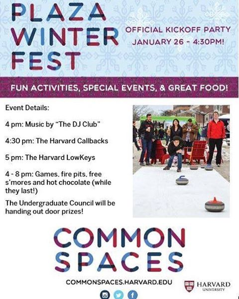 Take a break from shopping classes and come hear the Callbacks sing a few songs today at the Common Spaces Science Center Plaza Winter Fest! There will be free s'mores and hot chocolate! The Callbacks sing at 4:40PM. We hope to see you there!