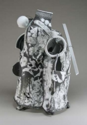 """White Canyon"", porcelain, 21""h x 13 x 13, 200 8"