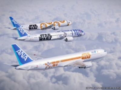 ANA's Star Wars Jets, as seen in USA Today