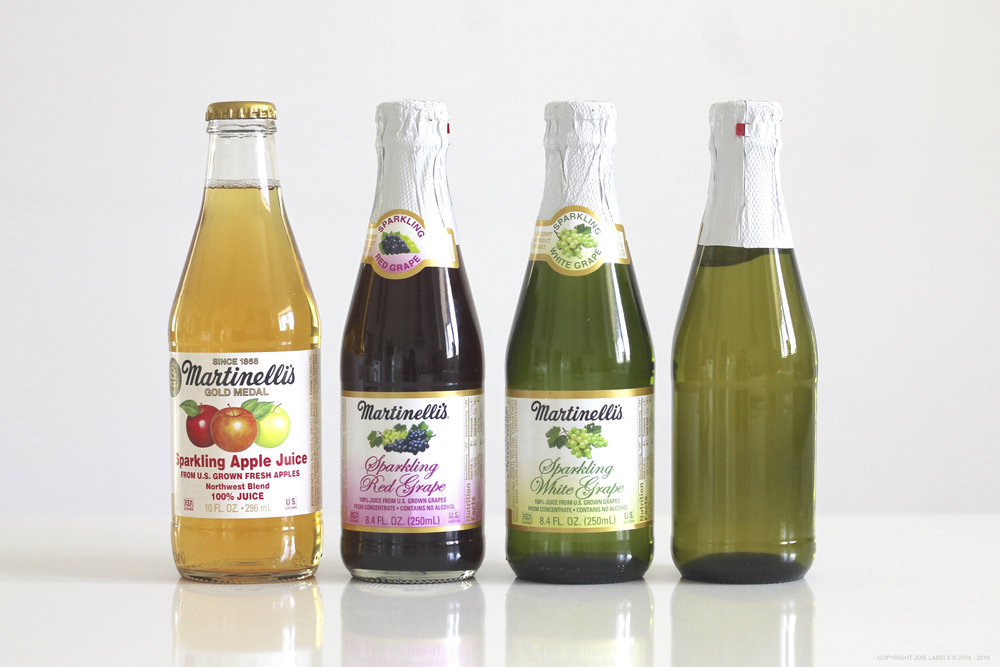 SPARKLING GRAPE AND CIDER MINI BOTTLES PERSONALIZED LABELS
