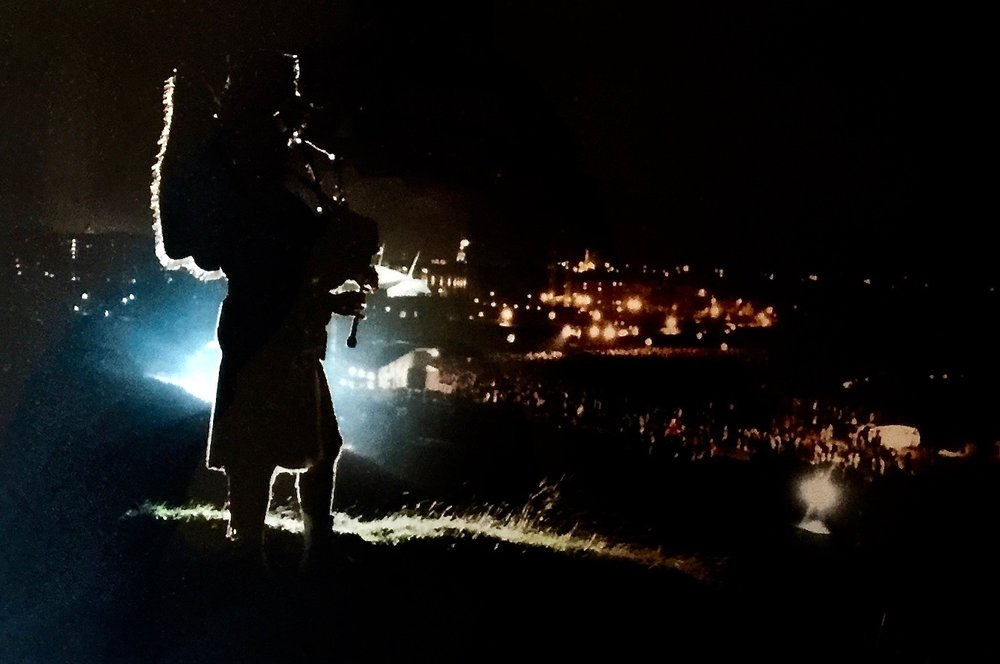 Arthurs Seat, Edinburgh    Midnight 2000