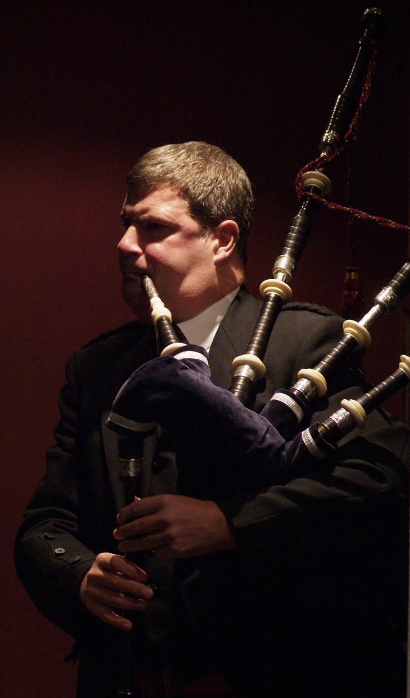 Playing at a wedding. Melville Castle, near Edinburgh