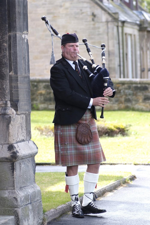 Wedding piper, Scotland