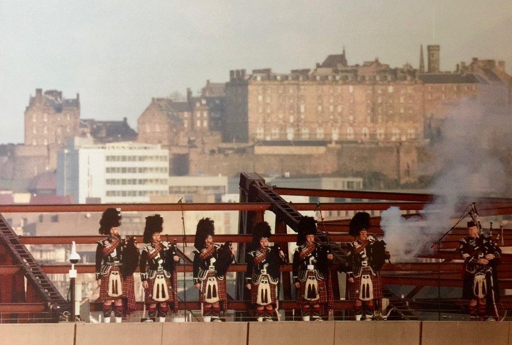 On the roof of Murrayfield Stadium, Edinburgh Scotland V Wales
