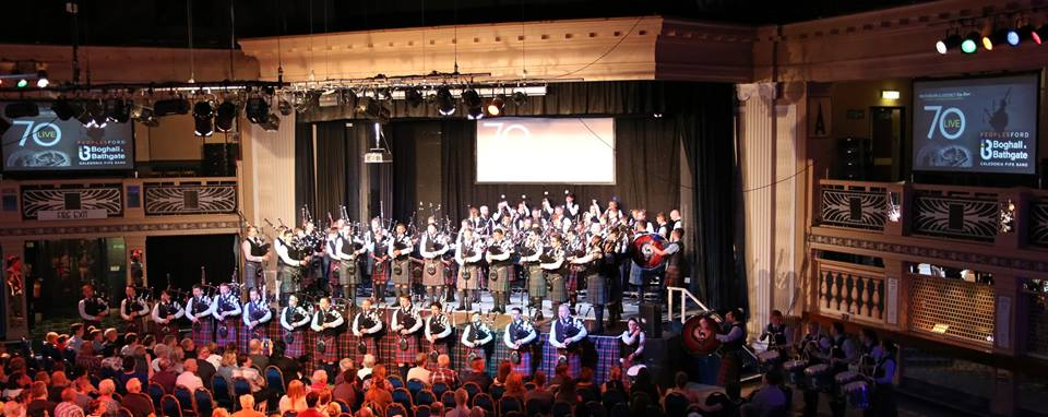 On Stage with Boghall and Bathgate at the Bucksburn and District Pipe Band concert May 2017