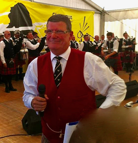 MC at the Toronto Police Pipe Band concert, Piping Live, August 2012