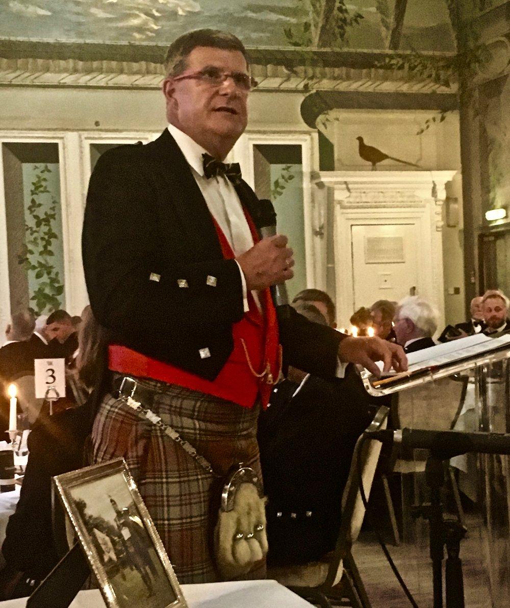 Waldorf Astoria, Edinburgh, August 2017 Captain John MacLellan Memorial dinner