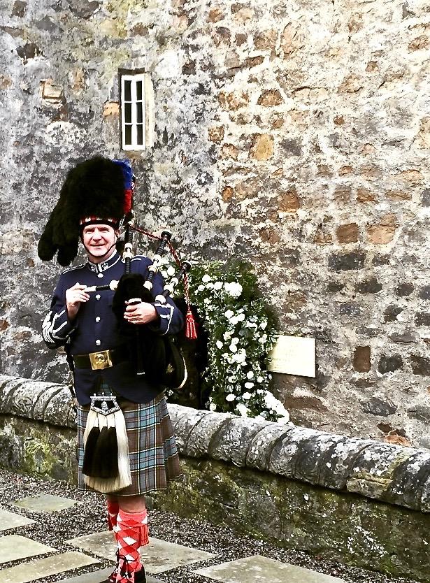 Outside the Keep, Dundas Castle Edinburgh