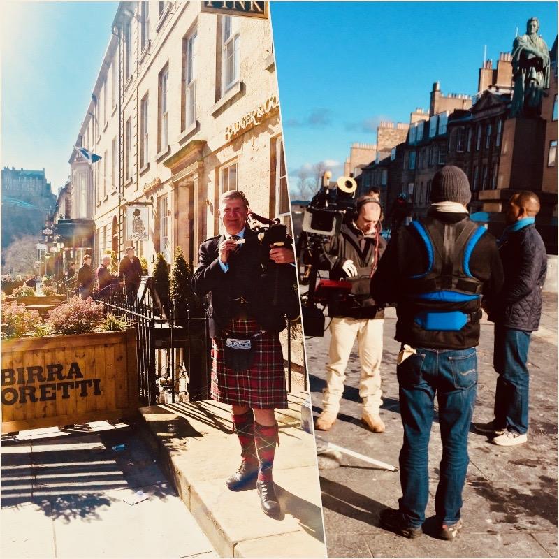 Good Morning Britain. Castle Street Edinburgh