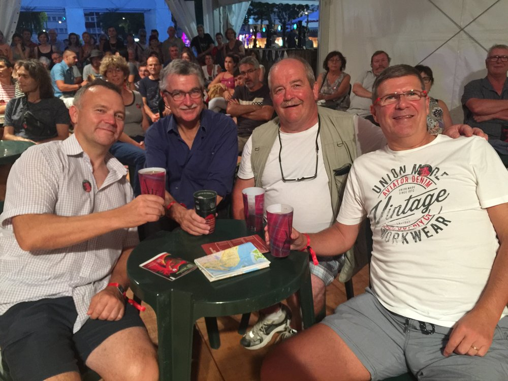 Stuart Liddle,Dr. Angus,Robert barnes and me in the Scottish tent
