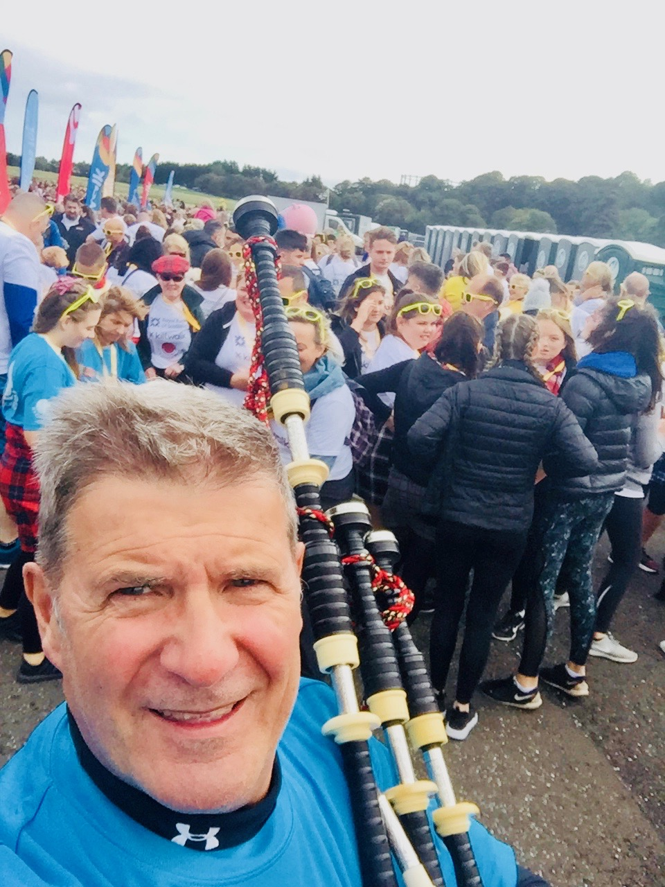 A charity event-The Kilt walk- for Its Good to Give. Edinburgh Sept 2018