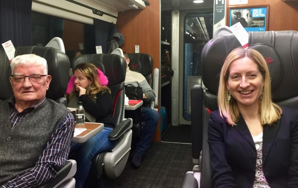 The Train Journey South November 2018    Andrew Wright and Jenny Hazzard