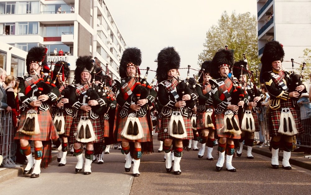An old picture go the Lothian and Borders band playing with Coriovallum Pipe Band. Rene on the left me on the right.