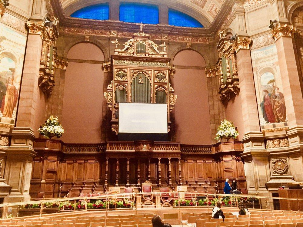 Inside the McEwan Hall pre ceremony