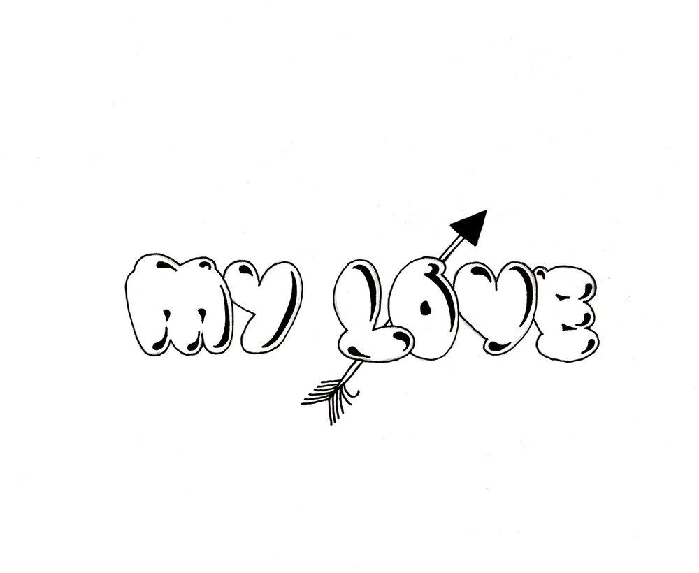 My Love Bubble Letters