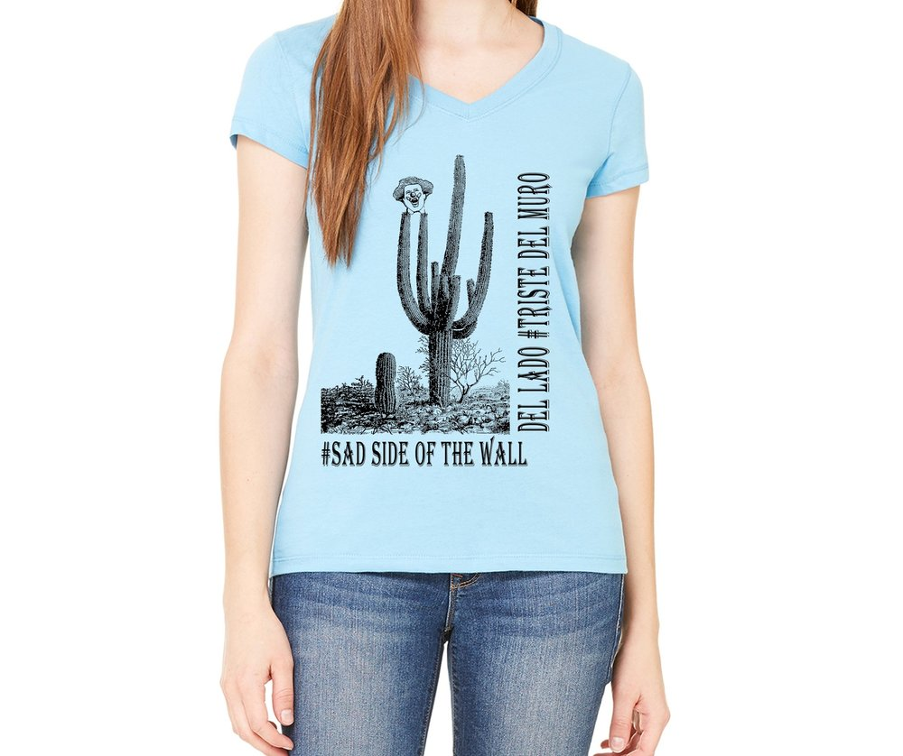 #Sad Side of the Wall Ladies Tee  $26