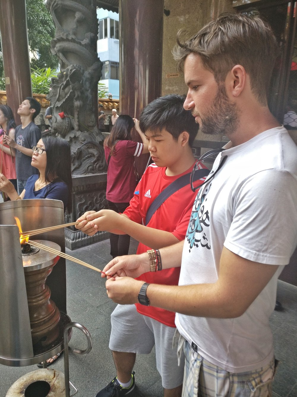 Incense at the Chinese temple