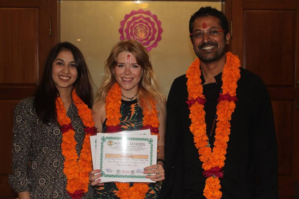 Graduating from Ashtanga YTT 200HR in Mysore, India - 2016