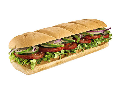 Foot long subway vegetarian sandwich - Lunch 3:30pm