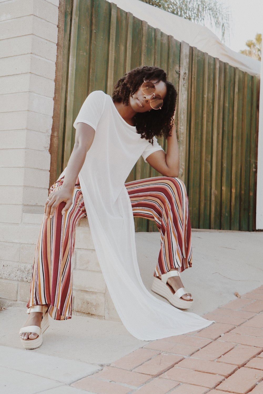 How to style wide legs pants
