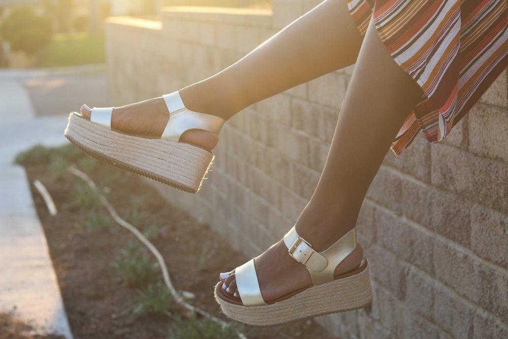 Gold Metallic Target Espadrille sandals