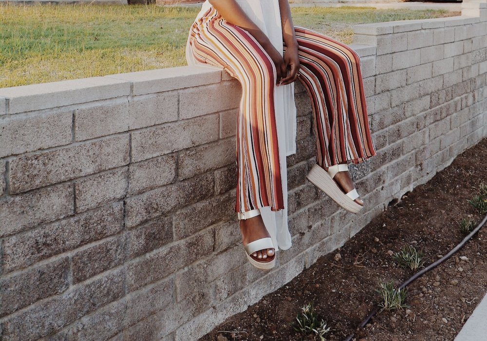 These 70's inspired wide leg pants are from forever21 are everything, and I couldn't pass up these shoes from Target.