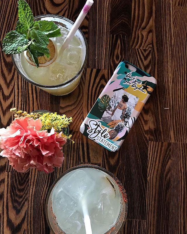 A successful happy hour w/ @glitzandglambytiff. Thanks @sandiegomag for having us! If you haven't been to @hundredproofsd, check them out. The food and drinks were amazing 🙌🏾 ✨For your own custom phone/laptop case use code: Stylexstatement20 for 20% off.