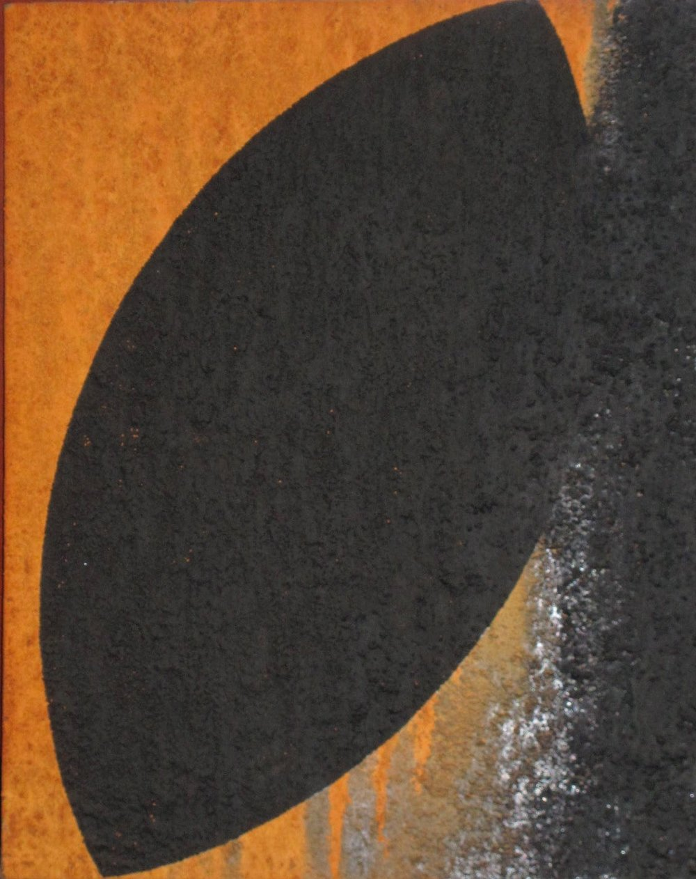 Untitled, 1988.  Iron oxide and acrylic on canvas. 30 x 24""