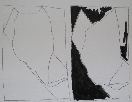 Untitled, 1985. Pencil and marker on rag paper.