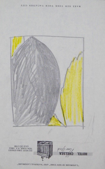 Untitled, 1988. Pencil and pastel on Chelsea Hotel stationery.