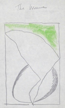 Untitled, 1985. Pencil and pastel on Chelsea Hotel stationery.