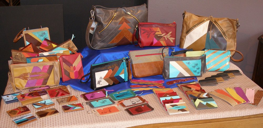Nanna's Lasting Gift - Leather designer Shelby Sneva, who creates hand-crafted wallets, clutches, cuffs, shoulder bags, and jewelry from fine and reclaimed leather, credits her artistry today to a Singer sewing machine gifted by her Nanna when Sneva was six.