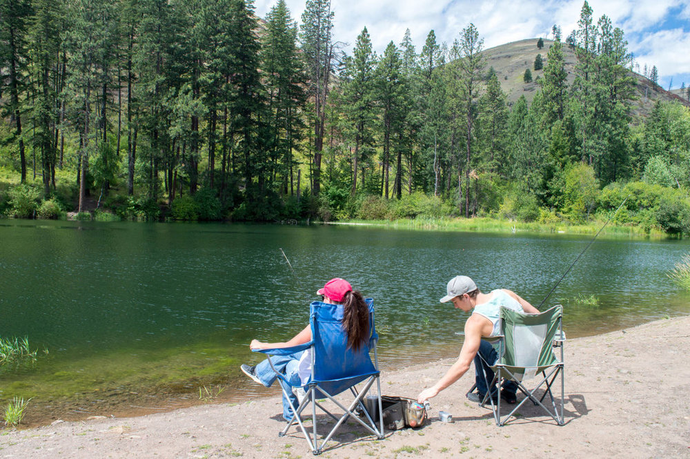 Tucannon Lakes Fishing Derby - Want to get away camp, fish, hike and win money? Head to Dayton's Tucannon Lakes!