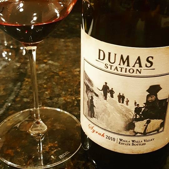 from @dumasstation A nice little treat for a Monday . . . . #syrah #wine #WAwine #2010vintage #mondaynight #wallawallavalley #WIYG