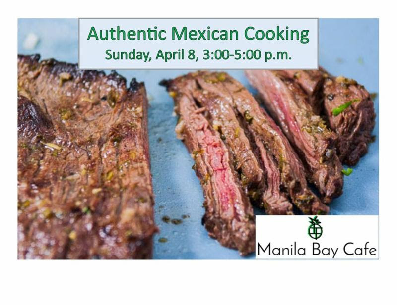 Learn Hands on how to make Mexican style Carne Asada, Spanish rice, and fresh salsa.  Instruction by Johathan Betts of Manila Bay Cafe.     Sunday, April 8, 2018  3-5 pm  Blue Mountain Station  Registration required to attend, must be signed up by April 3, 2018 to reserve your spot.  $18 for BMS Co-op Members  $36 for non-members  For more information or to sign up, call 509-382-2577  Email: BMSCoopmarket@gmail.com