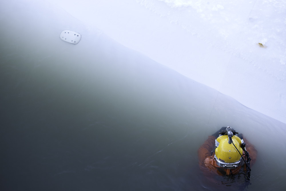 """""""Diver in the Water""""C-Print photograph"""