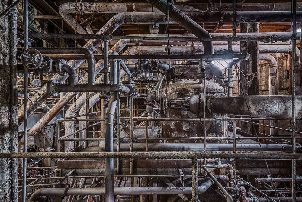 """Boiler Pipes"" Archival Pigment Print, 27 3/8""x 40"""