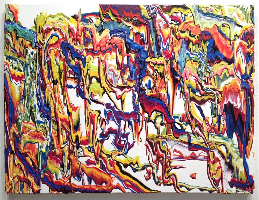 """Vision Machine"" acrylic on canvas 36""x48"""