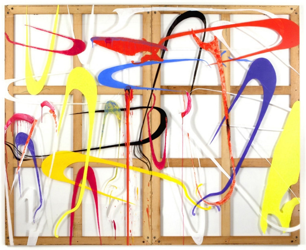 """""""Drone Attack"""" 117""""x96"""" diptych"""