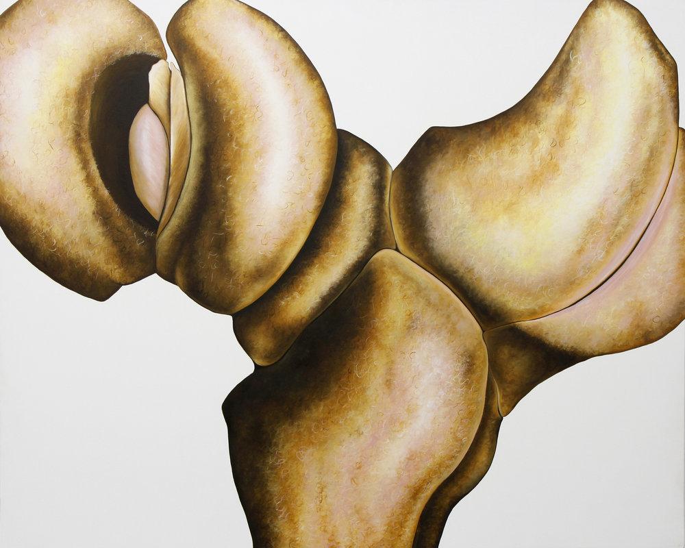 """Emily Roz, """"Double Rump""""oil on panel, 32""""x 40"""""""