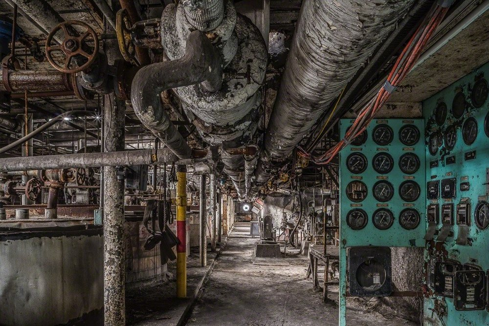 """Pipes and Gauges"" Archival Pigment Print, 27 3/8""x 40"""