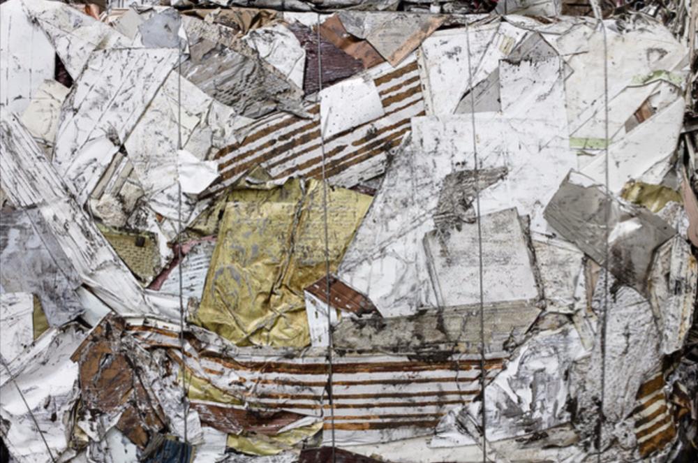 """Aluminum Siding Bale"" C Print photograph"
