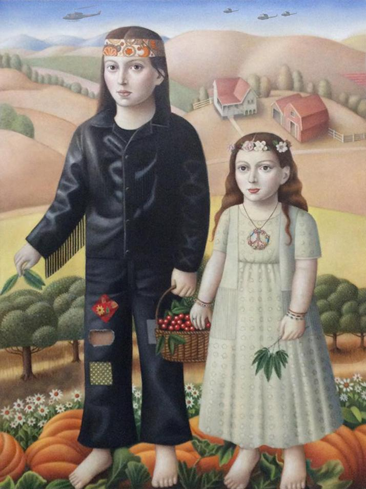 """Amy Hill, """"Couple with Plants"""""""