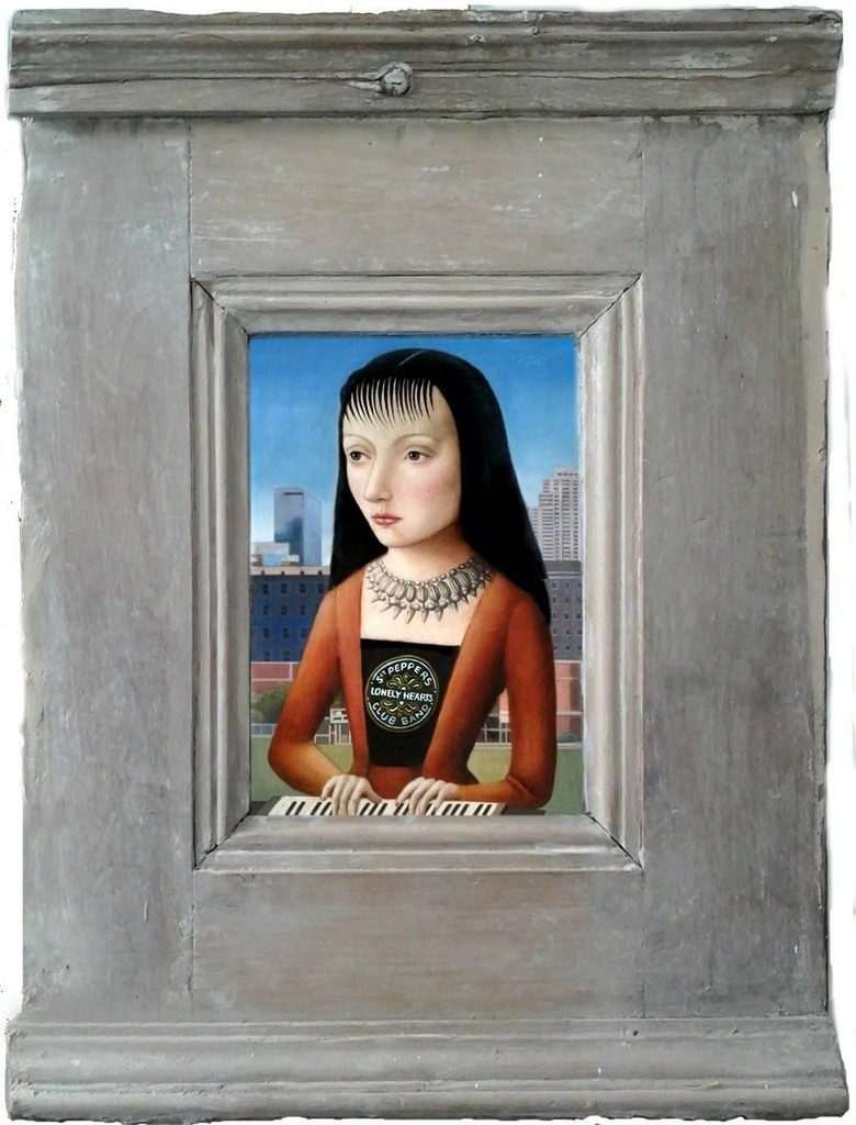 Amy Hill,  Woman with Bangs,  Oil on panel, 8 × 6 in; 20.3 × 15.2 cm