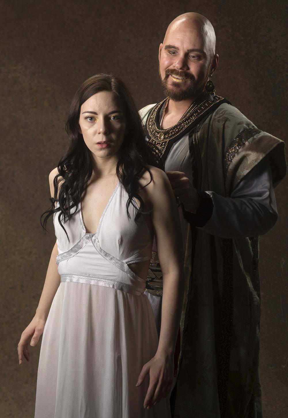 Christopher Younggren (Herod) and Gabrielle De Brequet (Salomé). Photo by Tim Fuller.